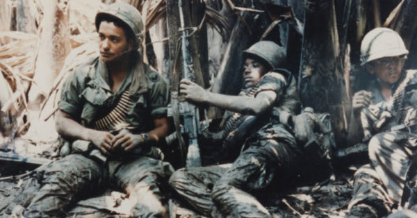 Source: Wikimedia Commons U.S. Army troops taking break while on patrol in Vietnam War.