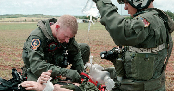 Source: Wikimedia Commons Navy Corpsman in a field training exercise.