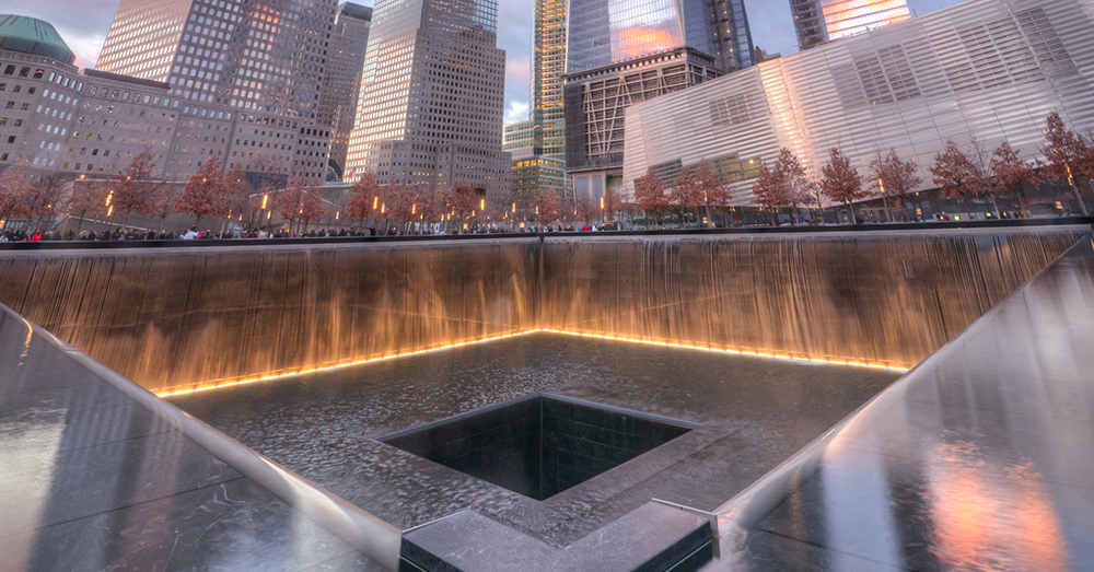 Photo: Flickr/Dave Z -- Two square pools are located where the Twin Towers stood in the National September 11 Memorial.