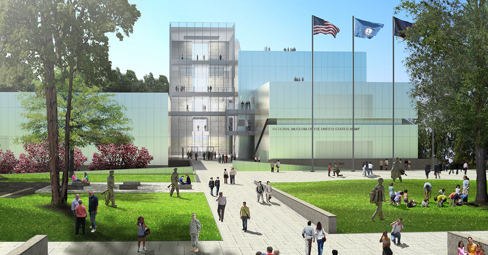 Image: U.S. Army -- A conceptual rendering of the entrance to the National Museum of the United States Army.