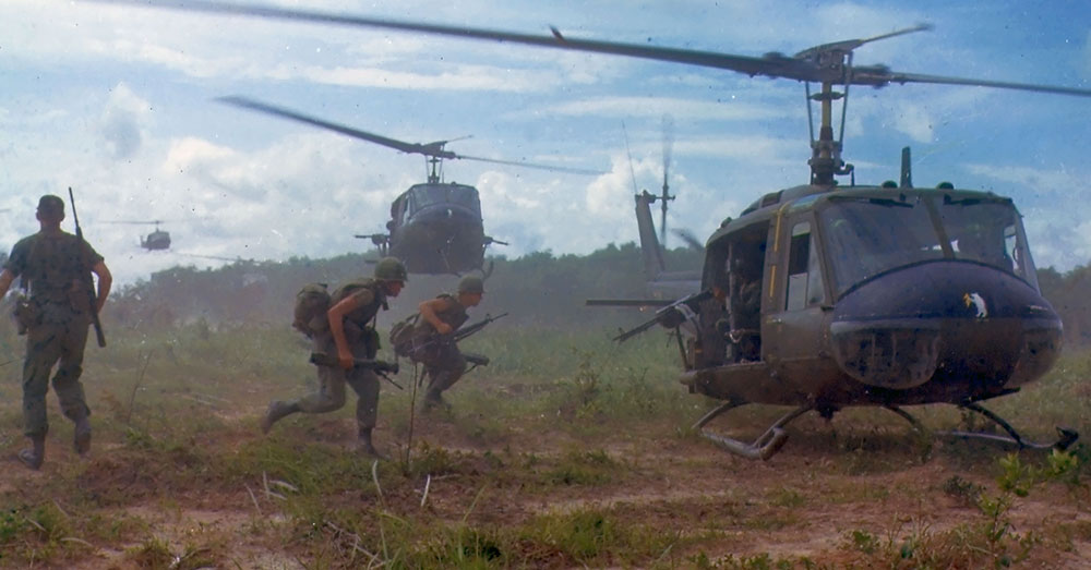 Source: Wikimedia Commons Soldiers board a helicopter in Vietnam.