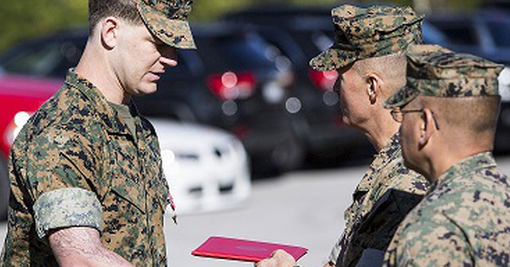 Source: U.S. Marines Staff Sgt. Moloney is awarded the Bronze Star for Valor.