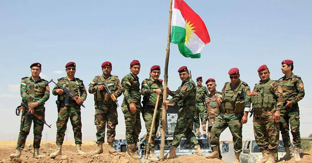 Source: Wikimedia Commons Kurdish Peshmerga fighters.