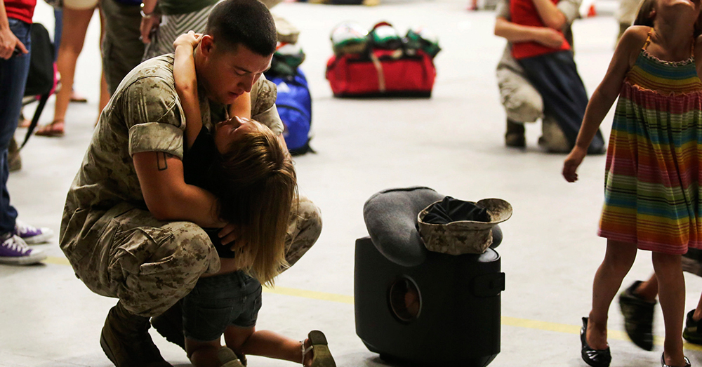 Photo: U.S. Marine Corps/Cpl. Sarah Cherry -- Marines with Marine Fighter Attack Squadron 115 prepare to deploy to the Western Pacific.