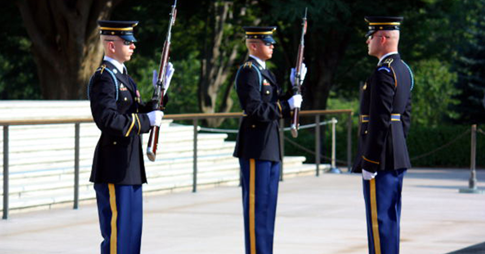 Changing of the Guard at the Tomb of the Unknowns during Memorial Day