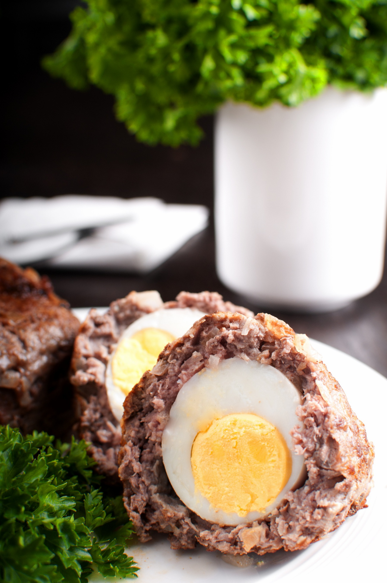 Scotch eggs traditional dish