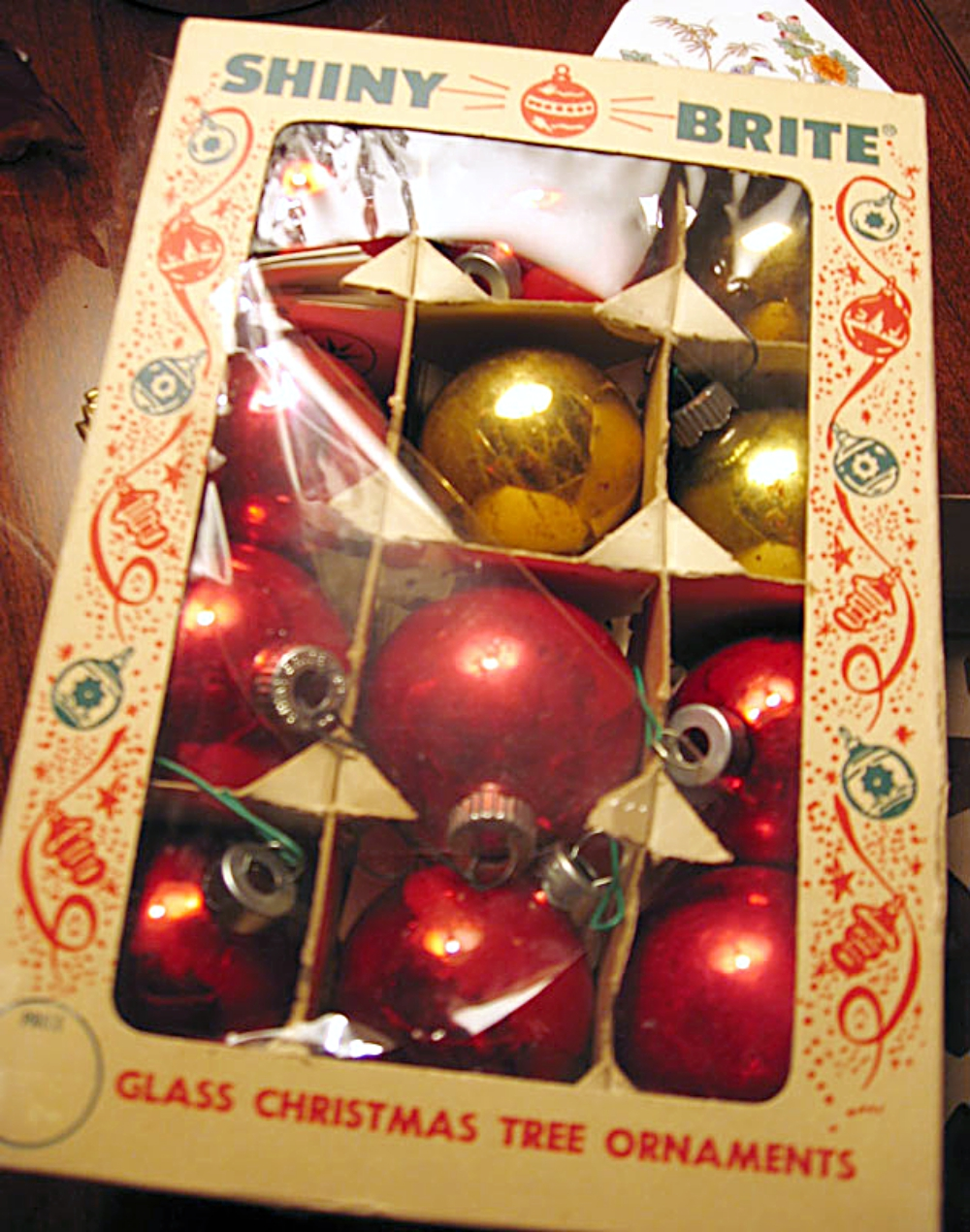 vintage Christmas ornaments we love!