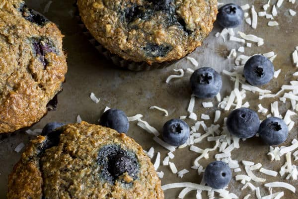 Sweet Coconut Blueberry Bran Muffins 12 Tomatoes