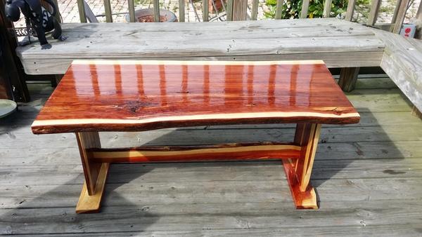 Live edge red cedar coffee table...