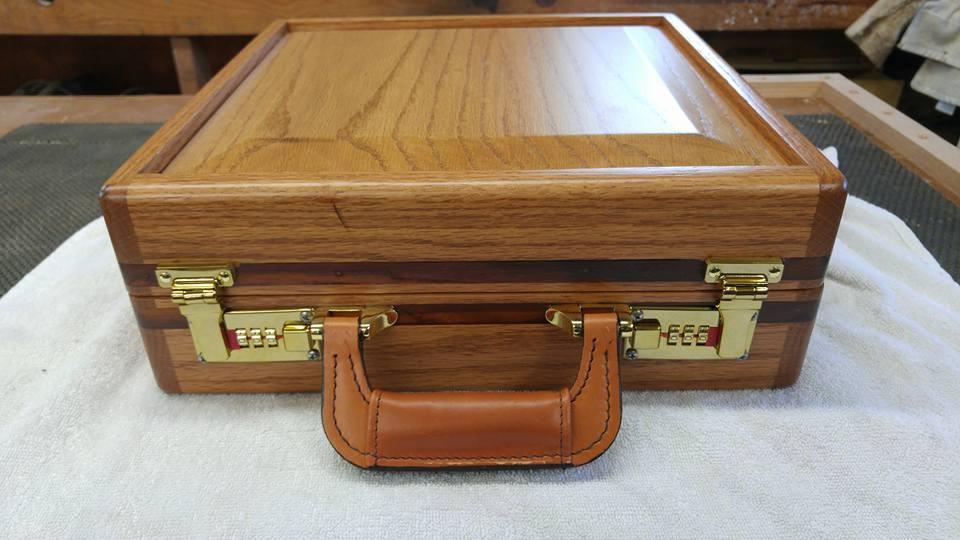 Oak pistol case for a friend