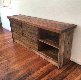 Made from recycled hardwood