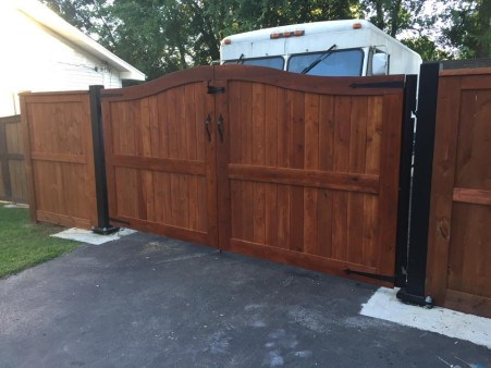 I just finished these gates. They're western cedar