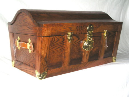 Red Oak Wedding Chest Made for my Daughter, stained with Red Oak