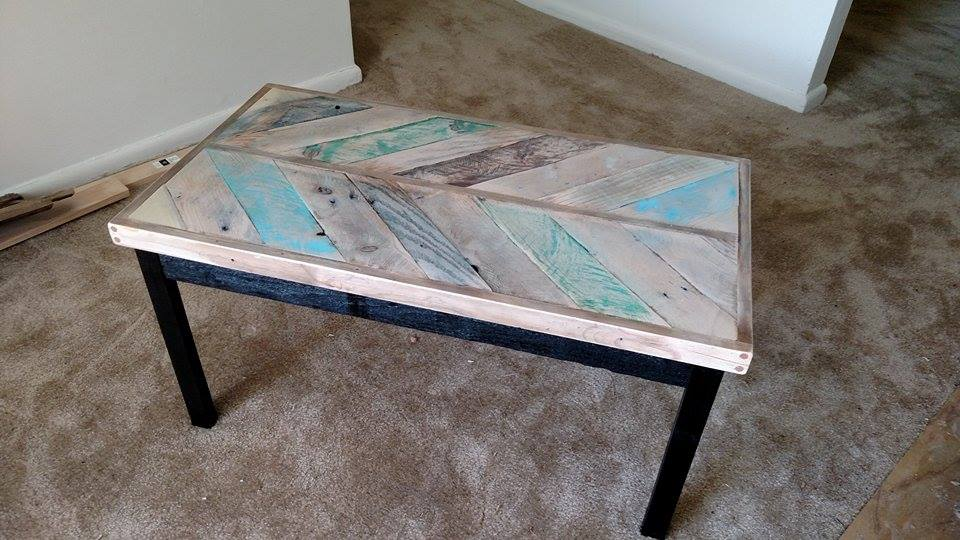 Here is a coffee table I made from pallet wood