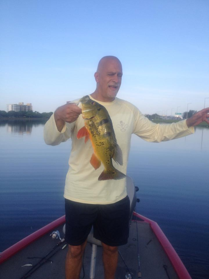 My friend Brian peacock bass in Miami,Fl
