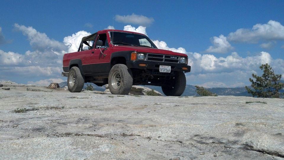 4runner on Bald Mountain in CA