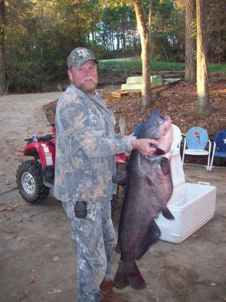 56-lb blue cat caught on Sam Rayburn Lake