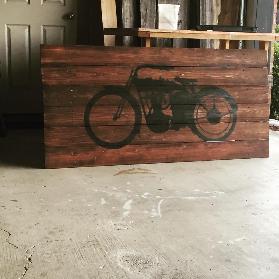 Made from old fence wood
