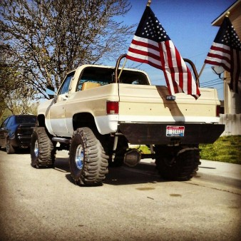My 85 k5 jimmy. This was taken the morning of a funeral for a fellow airman.
