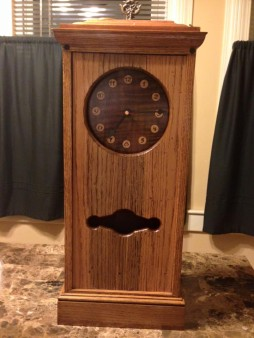 Check out this Clock that my father created! Beautiful piece of craftsmanship!!!