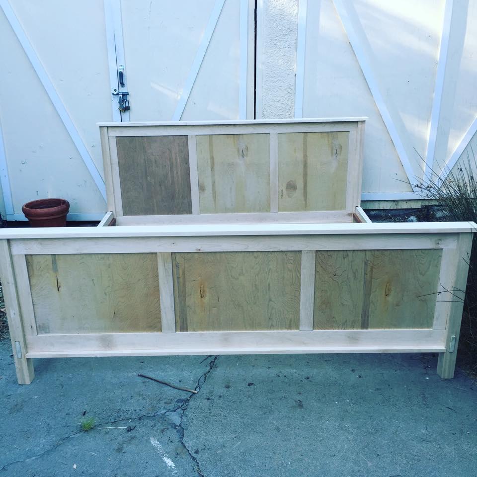 From Sean De Courcy: Maple craftsman king size bed. Sacramento, CA