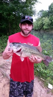From Channon White: 5.3lbs..caught him on a white fluke letting it sink under thick veggie in 4 foot of water.