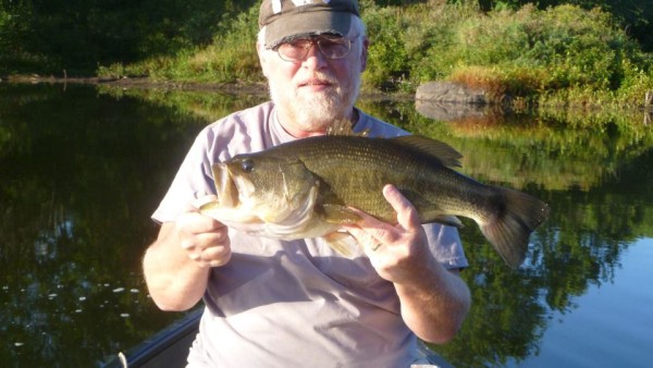 From Frank John Mottis‎: Largemouth, Fort Drum NY on a Torpedo!