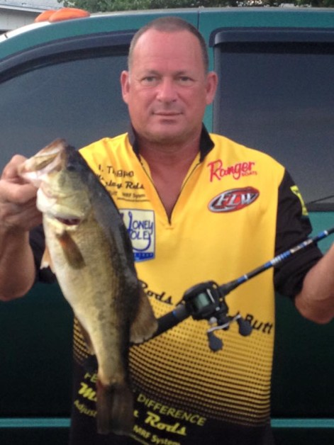 James Thigpen: Another awesome day on the lake with my Manley Rod