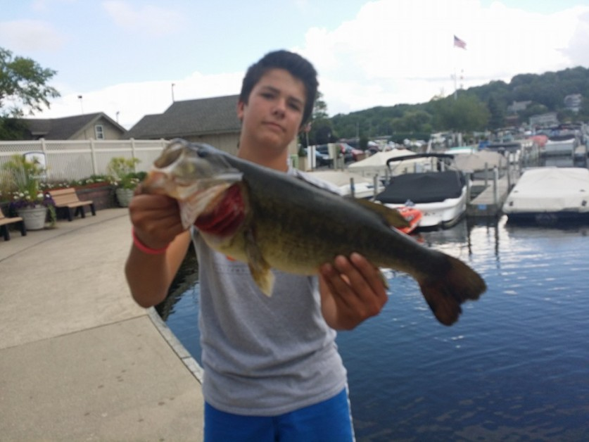 From Jim Weiss: Caught by Tim Weiss... age 14 in fontana wi on Geneva Lake. Check out his page for more great fish... timmytongaoutdoors