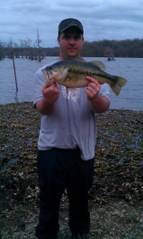 From Justin Trace Lay: BAFB LA, 3 Apr 2012 4.8lbs. 6in. fluke, ark-shinner! Love this bait!