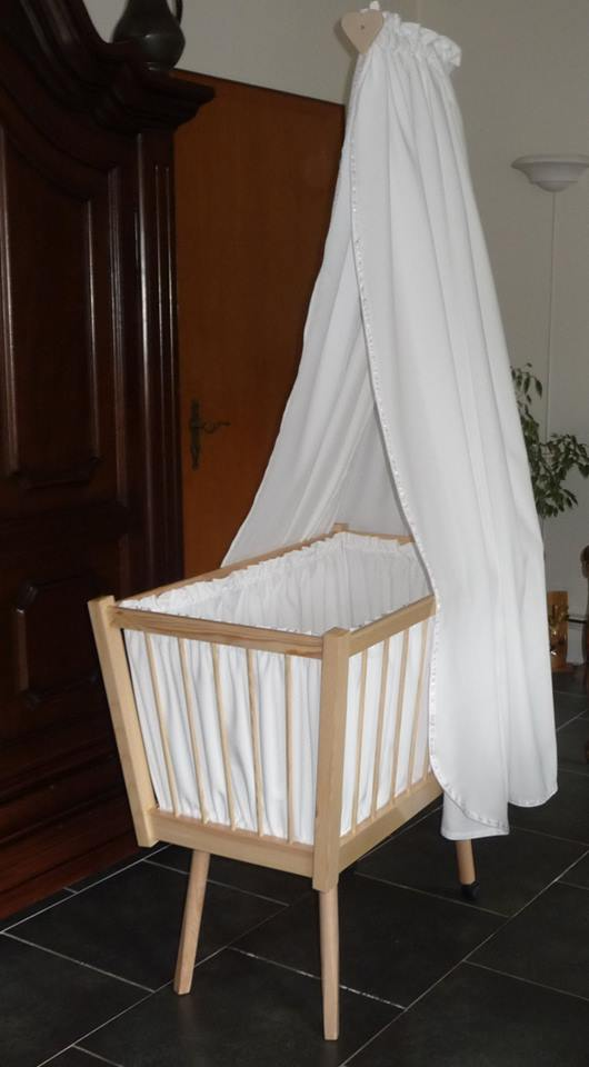 From Marius Hulsman: Had to make a cradle for some-one and this is what I came up with, with the help of my dear wife for doing the sowing.