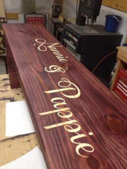 From Ronnie George‎: Nice little bench I make from time to time !!!