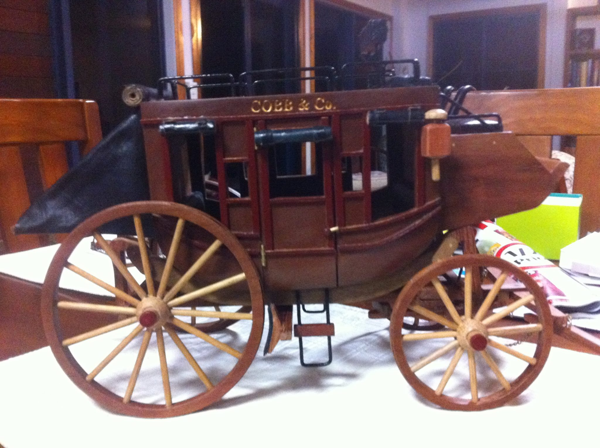 From Sue Lalor: I build classic model cars and other things like dolls furniture stage coach's all out of scrap timber
