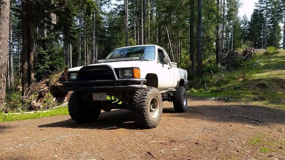 From Tanner Holycross: My gem. 85 straight axle and 22re factory.
