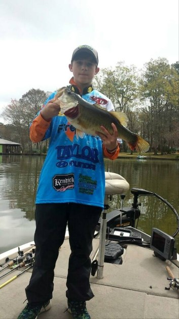 From Tony Harpstrite: Nice 6.7 Hunter Harpstrite, clarks hill fishing team, caught at lake blackshear, makes me proud to watch him fish! Great catch son