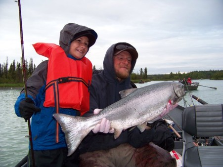 From Zack Keller: 12 yr old Noelle with her first King Salmon...Kasilof River, Alaska! 06/20/11