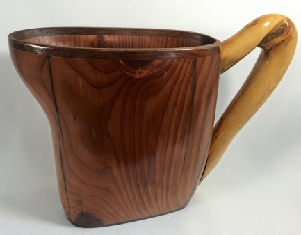 From Brooks McKee: Full sized wooden pitcher hand crafted from driftwood collected on the Oregon coast. #oregondriftware