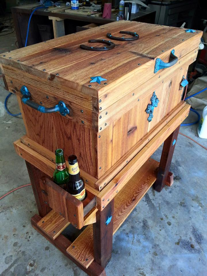 From Edward Chick‎:  Rustic Cedar Cooler
