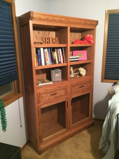From Jason Harthoorn: Made this piece for my girlfriend for her birthday. It was my first large furniture build. She loved it!