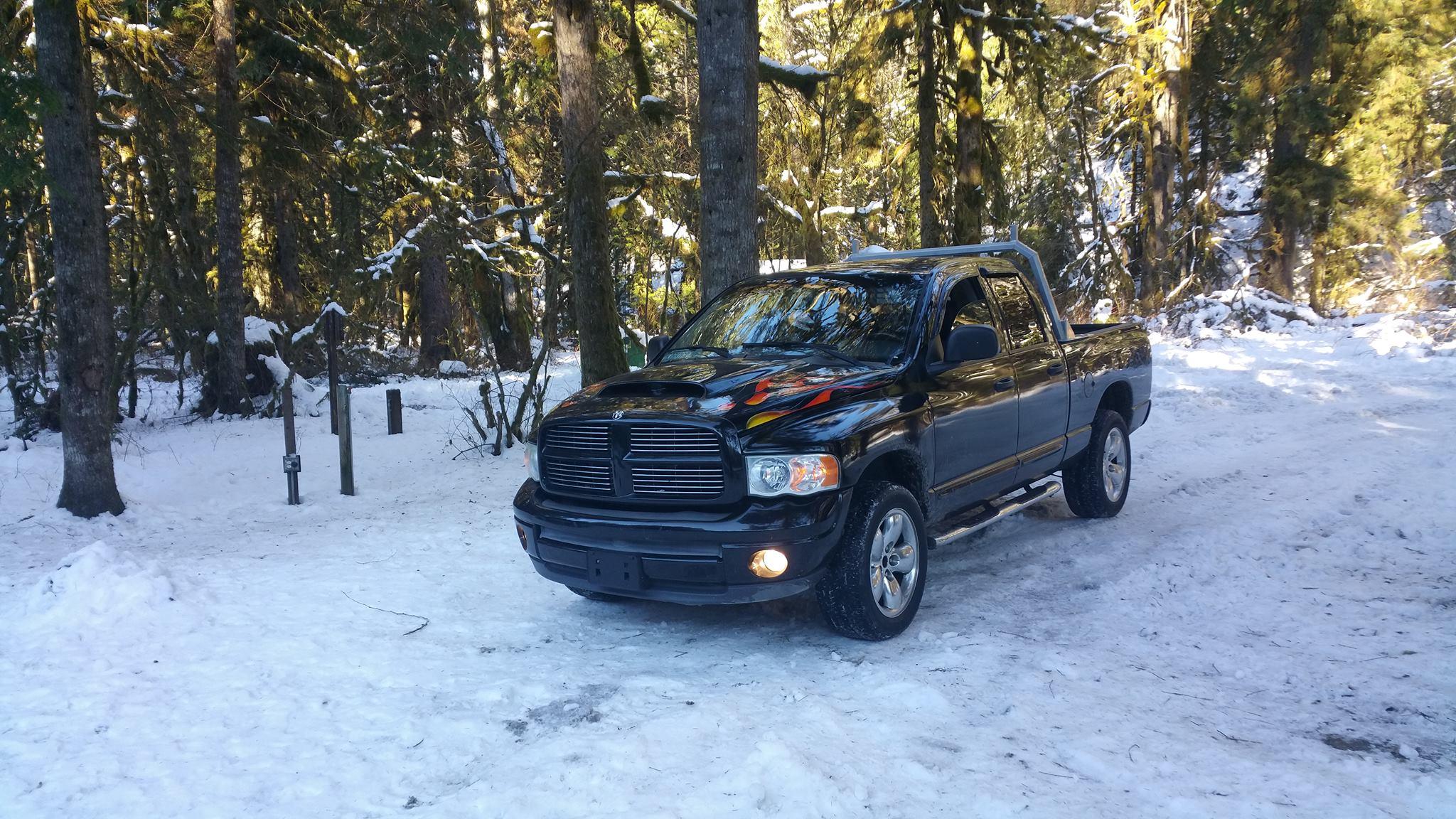 From John Guihan: 2004 Hemi sport 4x4, tuned Hemi, Laramie interior pkg.