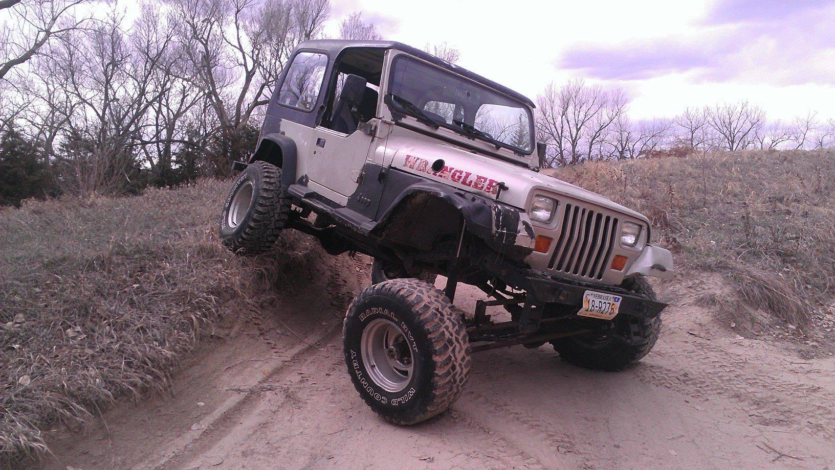 From Justin Cochrane: Flexin in the jeep, in Nebraska