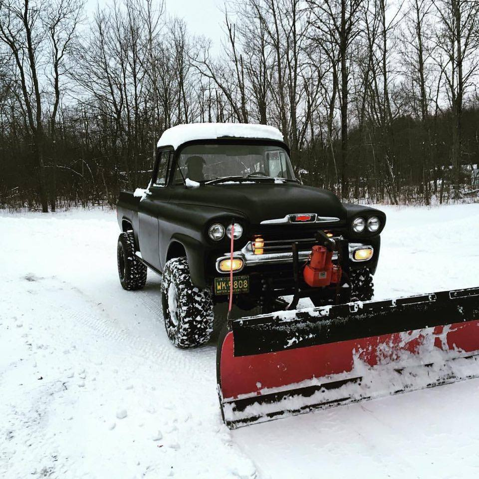 From Kary Saddison: This is my 1959 Chevy plow truck!