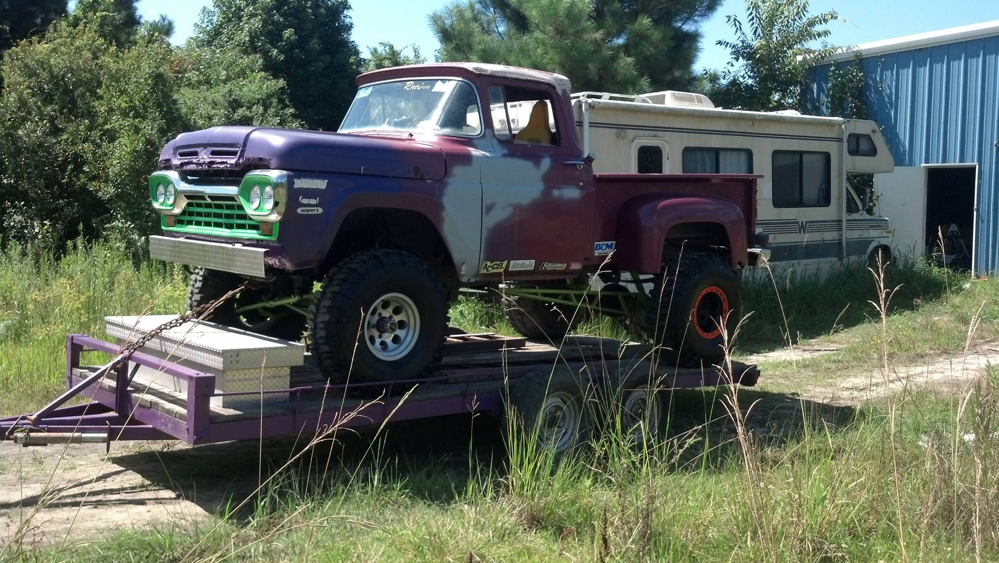 From Levy Bubba Lilly: the JOKER it is a 1960 f-100 with a 429 super cobra-jet