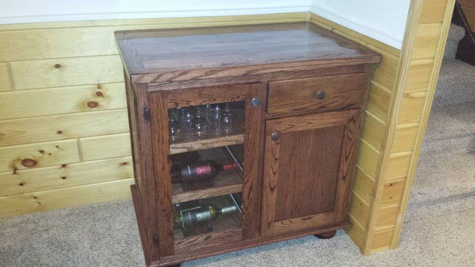 From Pat Thibodeau: Oak wine cabinet