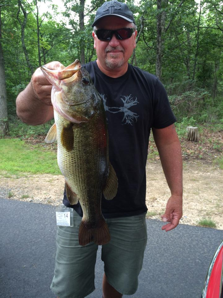 From Rick Frace: Got this 7 lb largemouth in the poconos, pa