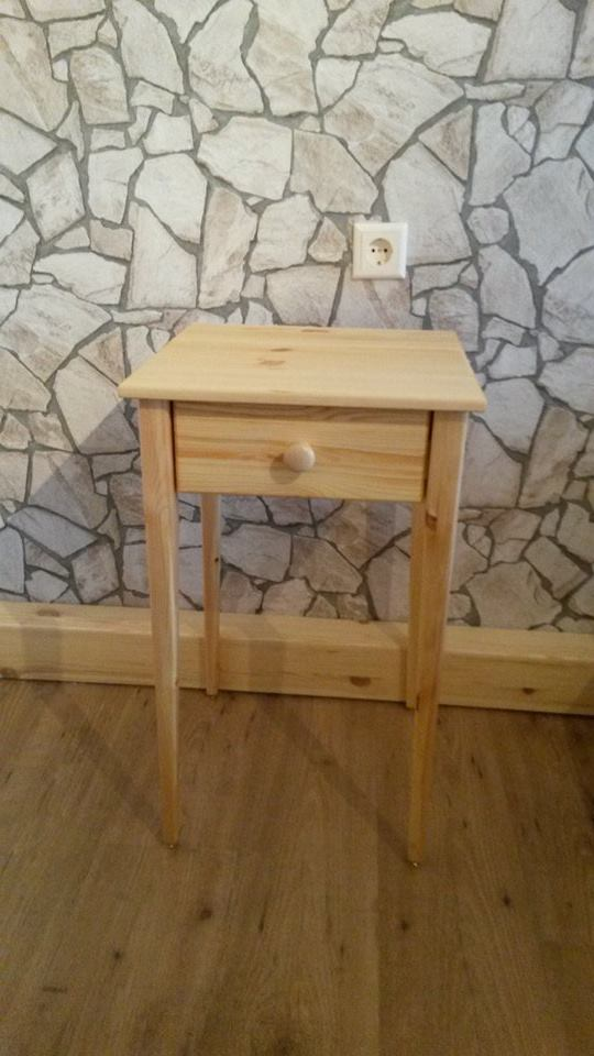 From Roland Vasquez: This is one of a pair of nightstand i made between chrismas and new year.I made them from pine with an oil and wax finish.