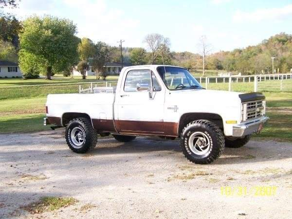 From Steve Polly:  85 chevy ..350 crate engine...factory 4 speed.