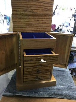 From Steven Phillips: Cherry and zebra wood jewelry box