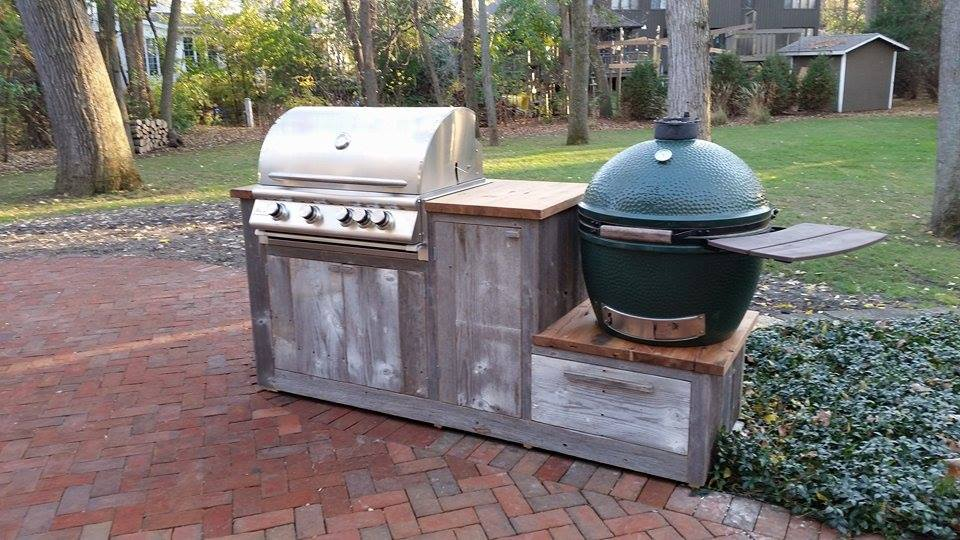 From Travis Gauger: A grill station made of old barn wood.
