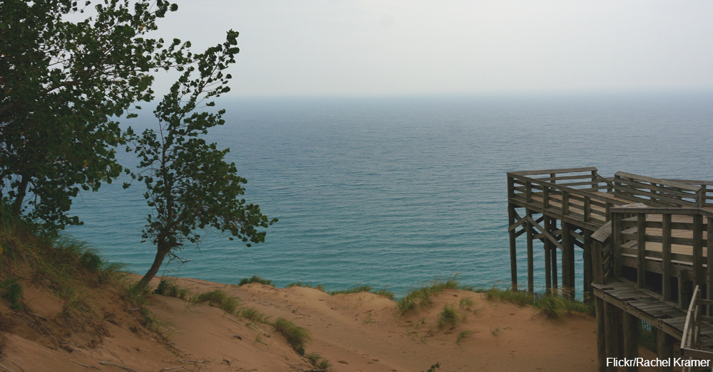 Sleeping Bear Dunes on Lake Michigan / Via Rachel Kramer